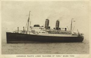 Canadian Pacific Line Steamer Duchess of York (1920s)