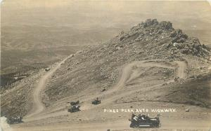 Autos C-1910 Colorado Pikes Peak Highway RPPC real photo postcard 10910