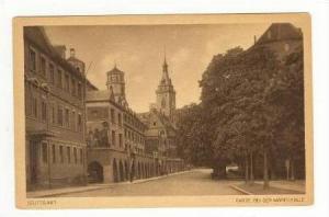 Stuttgart, Germany, 1910s Partie bei der Markthalle