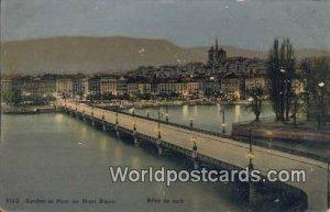 Effet du Nuit Geneve et Pont du Mont Blanc Swizerland Unused