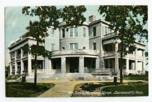 Postcard Wm. Small Memorial Home Leavenworth Kans. Kansas Standard View Card