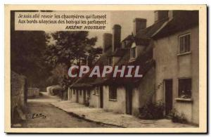 Old Postcard I went to see the cottages smokers with wild silent edges that p...