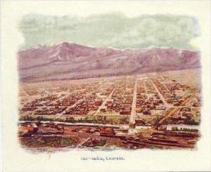 Aerial View Of Salida, Colorado, 1900-1910s