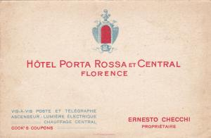 Bi-Fold; 20-30s, FLORENCE, Toscana, Italy; Hotel Porta Rossa et Central, Aerial