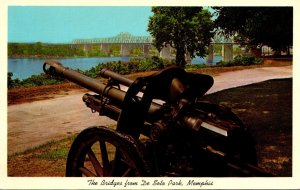 Tennessee Memphis The Bridges From De Soto Park With Canon
