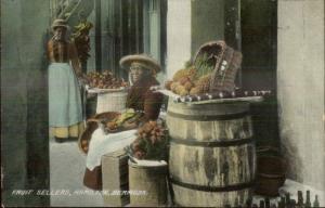 Hamilton Bermuda Black Women Fruit Sellers c1910 Postcard