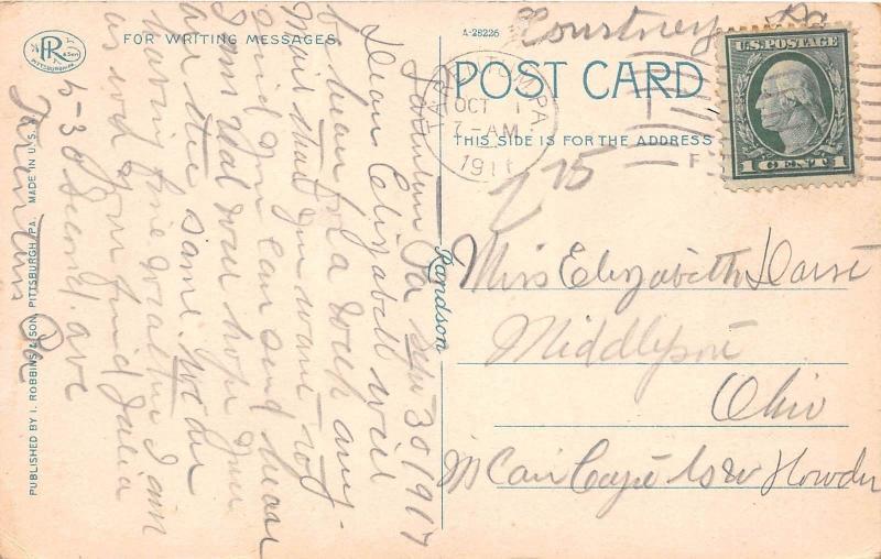 Pennsylvania Pa Postcard 1911 TARENTUM High School Building 1