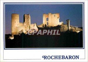 Postcard Modern Castle Rochebaron Enlighten (Haute Loire) 430m alt Remains of...