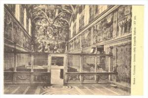 Roma - Vaticano - Interno della Capella Sistina - XV sec., 00-10s