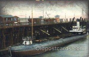 Whale Back Bay - Coal pier, Newport News,VA, USA Steamer, Steamers, Ship 1908...