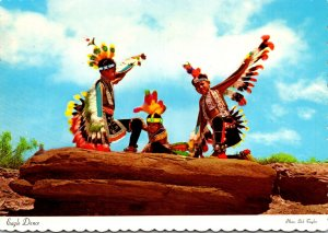 Navajo Indian Boys Dressed For An Eagle Dance
