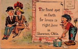 Oklahoma Shawnee Romantic Couple The Finest Spot On Earth 1914