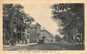 LPS25 Ovid New York Main Street looking North Town View Postcard