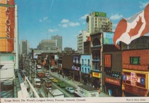 Yonge Street Canada Canadian McDonalds Strip Show Postcard