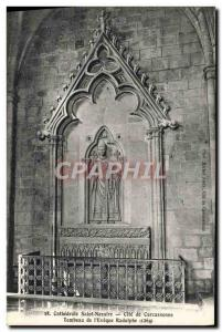 Old Postcard Cathedrale Saint Nazaire Carcassonne Cite Tomb of & # 39eveque R...