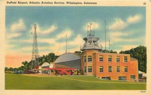 Airplanes Dupont Airport 1940s Del Mar News Wilmington Delaware linen 6774