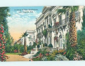 Divided-Back GROUP OF VERY FINE RESIDENCE HOMES Los Angeles California CA ho3585
