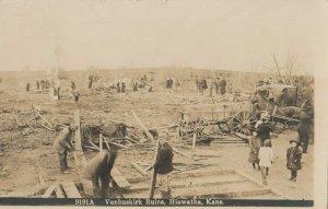 RP: HIAWATHA , Kansas , 1911 ; Vanbuskirk Ruins (Tornado)