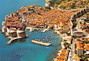 Croatia Dubrovnik General view Panorama Harbour Boats
