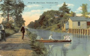LPS15 CLEVELAND Ohio Canoeing along the Ohio Canal Postcard