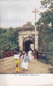 MANILA, Philippines, 1900-1910s; Old Gateway