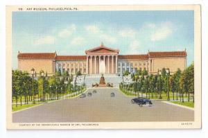 Art Museum Philadelphia PA 1941 Curteich Linen