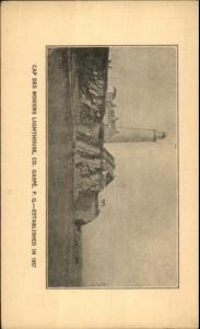 Gaspe Quebec Cap Des Rosier Lighthouse c1915 Postcard