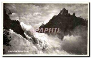 Old Postcard Schloss Laufen Rheinfall Mit