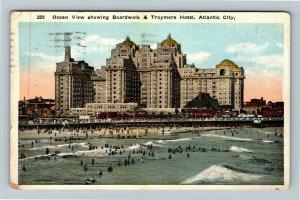 Atlantic City NJ-New Jersey, Ocean View, Traymore Hotel, Vintage Postcard