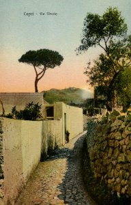 Italy - Capri. The Road to Tiberio