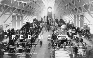 1923 Goteborg Sweden Official Expo RPPC: Maskinhallen