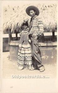 Real Photo Seminole Indians, Florida USA Postcard Ti-Ho-Kee Osceola & Henry C...