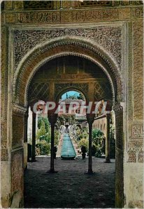 Postcard Modern Granada Generalife Patio de la Acequia