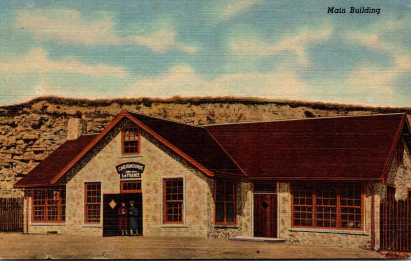 Wisconsin Blue Mounds Main Building Cave Of The Mounds Curteich