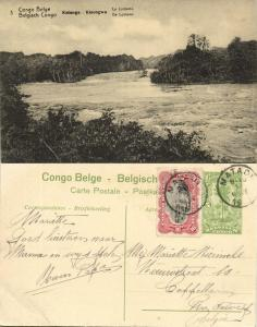 belgian congo, KATANGA KISENGWA, Lomami River (1920s) Postcard (03)