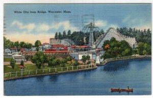 Worcester, Mass, White City from Bridge
