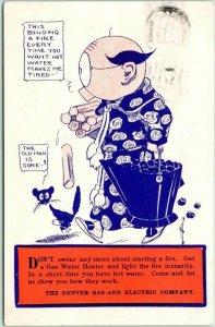 1909 Denver, Colorado Advertising Postcard DENVER GAS & ELECTRIC COMPANY Comic