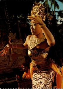 Indonesia Bali Beautiful Charming Balinese Dancer In Action