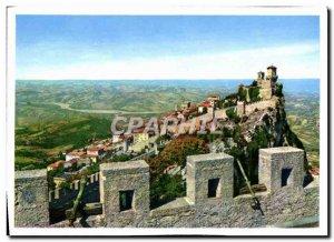 Postcard Modern San Marino Antiche Mura E Panorama