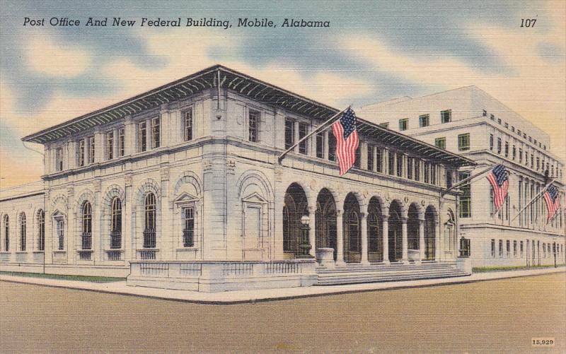 Post Office & New Federal Building , MOBILE , Alabama , 30-40s