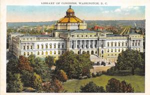 Washington DC~Library of Congress & Grounds Bird's Eye View~Inf on Back~1929 Pc