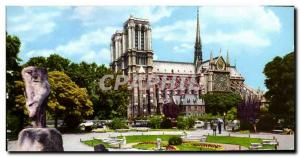 Modern Postcard Paris Notre Dame Church Facade
