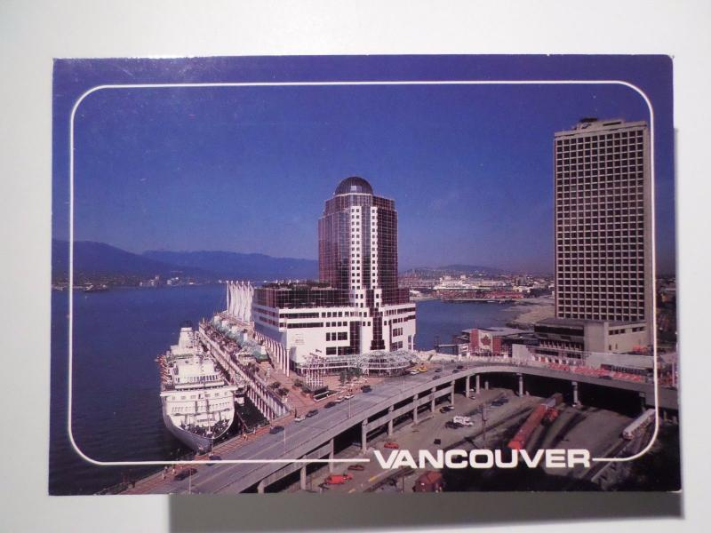 1980years VANCOUVER CANADA postcard  SHIP OCEAN LINER BATEUX BOAT BOATS z1
