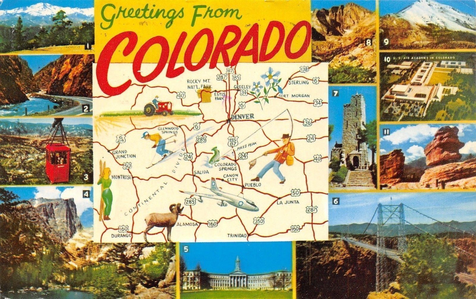 Colorado~State Map~Sterling to LaJunta~Durango to Greeley ... on west vail map, pagosa map, manitou springs co map, montrose map, greenwood village map, denver map, eagle map, glenwood canyon map, colorado map, broomfield map, newport news map, las vegas map, arvada map, lochbuie map, aspen map, fairfield map, saguache map, steamboat area map, norman map,