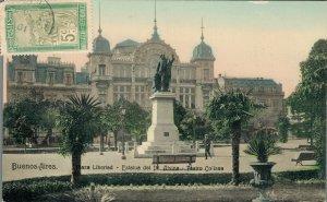 Argentina Buenos Aires Plaza Libertad Estatua del Dr Alsina Teatro Coliseo 06.31