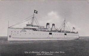 City Of Munising, Michigan State Auto Ferry, Straits Of Mackinac, 1900-1910s