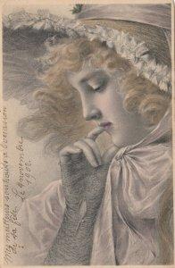 M.M.VIENNE : Closeup Female Head Portrait #1, 1902