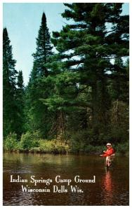 Wisconsin  Dells , Indian Springs Camp Ground , Fly Fishing
