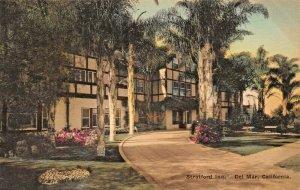 DEL MAR CALIFORNIA~STRATFORD INN~1920s ALBERTYPE PHOTO POSTCARD