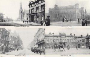 Bury Rock Street Derby Hotel Market Place Lancashire 4x Postcard s